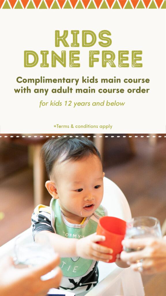 kids dine free at TONITO